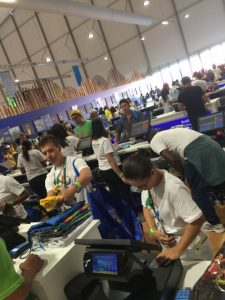 These are JUST the check-out stations at the Rio 2016 Barra Olympic Park Megastore (GamesBids Photo)