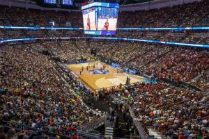 The LA 2024 Olympic Bid's Honda Center in Anaheim will host Volleyball (LA 2024 Illustration)