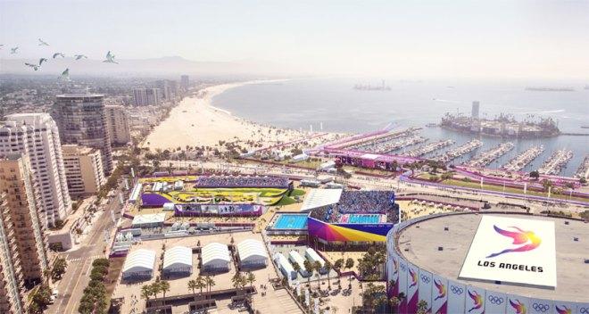 The LA 2024 Olympic Bid Long Beach Sports Park (LA 2024 Illustration)