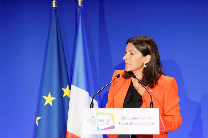 Mayor Campaigns For French Presidential Candidate Support of Paris 2024 In Wake Of Rome's Collapse