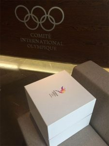 LA 2024 bid book USB drives delivered to IOC headquarters in Lausanne