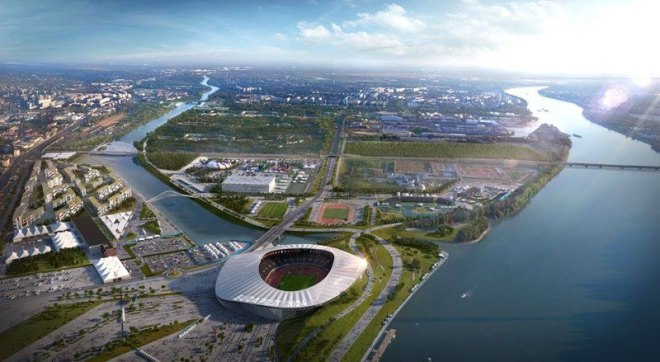 Proposed Budapest 2024 Olympic Stadium (Budapest 2024 depiction)