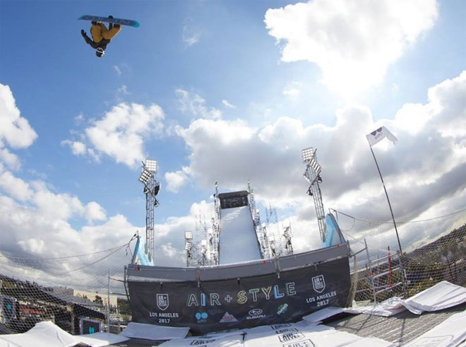 Air + Style snowboarding and music festival in Los Angeles boost LA 2024 Olympic bid (LA 2024 Photo)