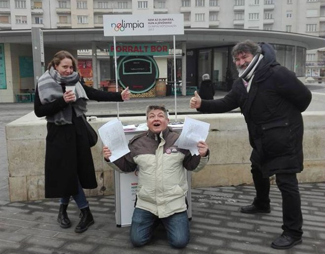 The NOlimpia campaign collects over 266 thousand signatures against Budapest 2024 Olympic bid (NOlimpia Facebook Photo)