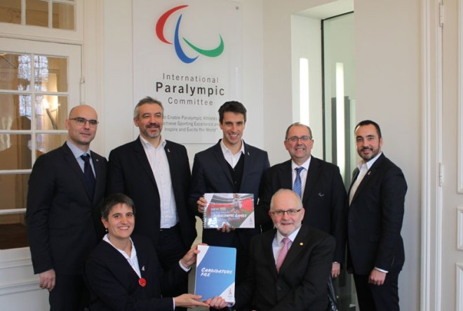Paralympic Chief Sir Philip Craven meets with Paris 2024 officials in Bonn, Germany February 9, 2017 (Paris 2024 Photo)