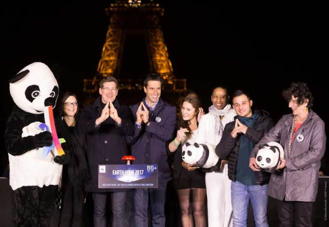 Paris 2024 and World Wildlife Federation Celebrate Earth Hour 2017 in Paris (France-WWF Photo)