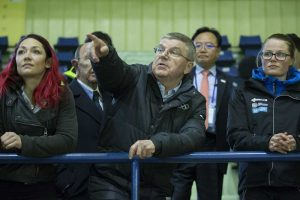 IOC President Thomas Bach inspects venues in PyeongChang ahead of 2018 Olympic Winter Games (IOC Photo)