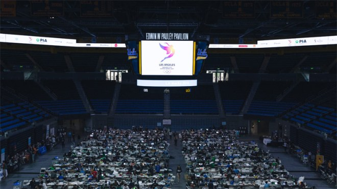 LA Hacks hackathon sponsored by LA 2024 will take place at UCLA's Pauley Pavilion March 31 to April 2.
