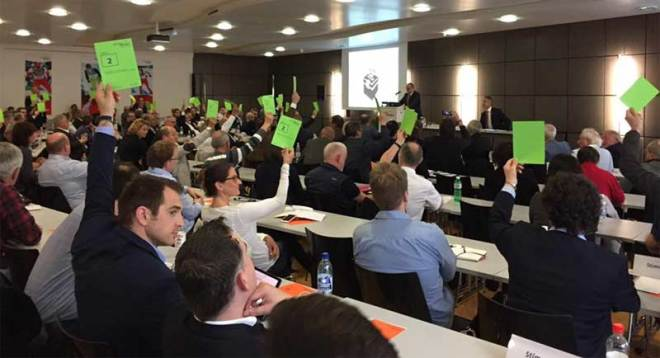 Members of the Swiss Parliament of Sport vote 78-0 to approve Sion 2026 Olympic Winter Games candidacy (Sion 2026 photo)