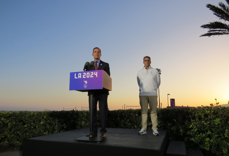 Los Angeles 2028 Delegation Departs For Lima To Collect Third Olympic Games