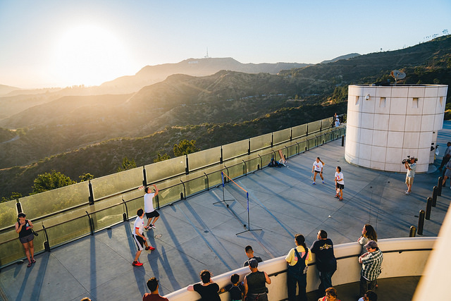 LA 2024 celebrates the summer solstice with Badminton at Griffith Observatory (LA 2024 Photo)