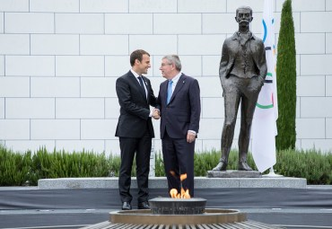 French President Macron Continues To Campaign For Paris 2024 Olympics Even After LA Accepts 2028
