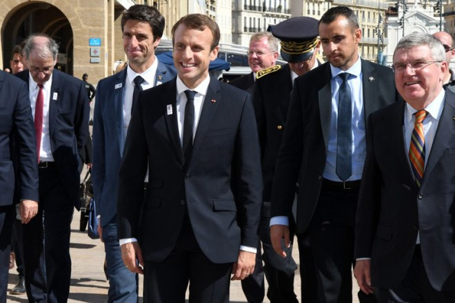 Image result for France's Macron, ICO's Bach visit Marseille's sites