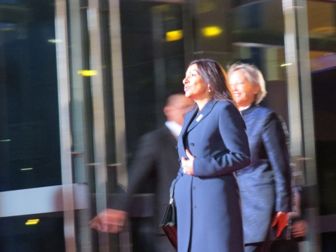 Paris Mayor Anne Hidalgo on IOC Session Opening Ceremony Red Carpet (GamesBids Photo)