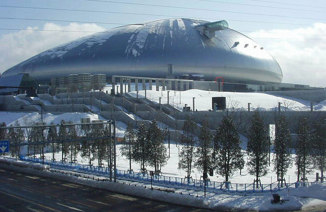 The Sapporo Dome (Wikipedia Photo)