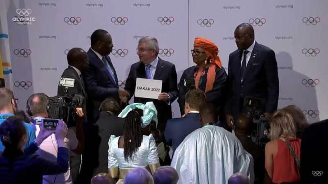 IOC President Thomas Bach announces that Dakar in Senegal will host 2022 Youth Olympic Games