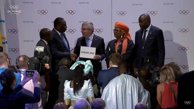 IOC President Thomas Bach announces that Dakar in Senegal will host 2022 Youth Olympic Games