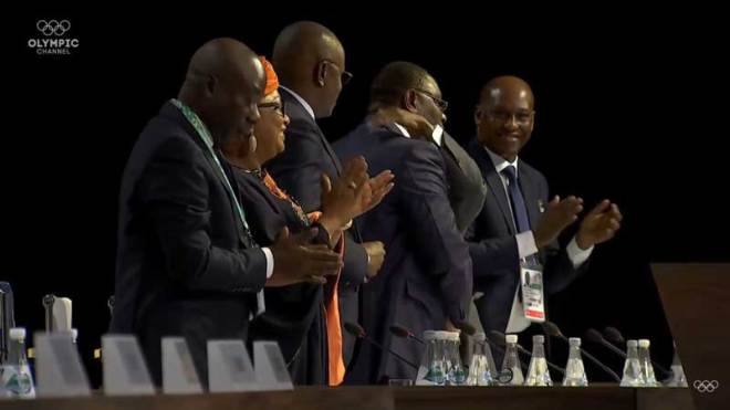Dakar 2022 delegates at moment the Senegal Capital is chosen to host 2022 Youth Olympic Games October 8, 2018