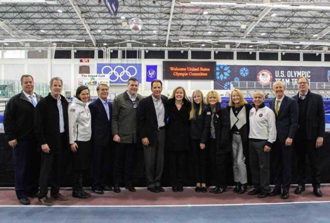 The USOC tours the Utah Olympic Oval with members of the Salt Lake City Olympic Winter Games Bid (Twitter/SLC2030)