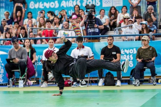 Breakdancing, featured at Buenos Aires 2018 Youth Olympic Games, now recommended for inclusion at the Paris 2024 Olympic Games (WDSF Photo)