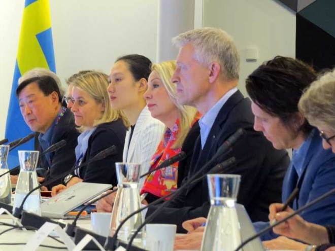 IOC 2026 Olympic Bid Evaluation Commission Members watch presentations from Stockholm-Are 2026 (GamesBids Photo)