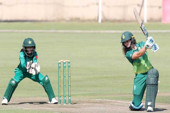 South African cricketers compete in Women's World Championship, May 2019 (ICC Photo)
