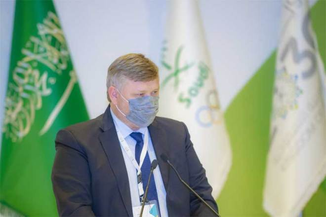 Andrey Kryukov, Chair of OCA Evaluation Commission for the 2030 Asian Games bids (Riyadh 2030/Twitter photo)
