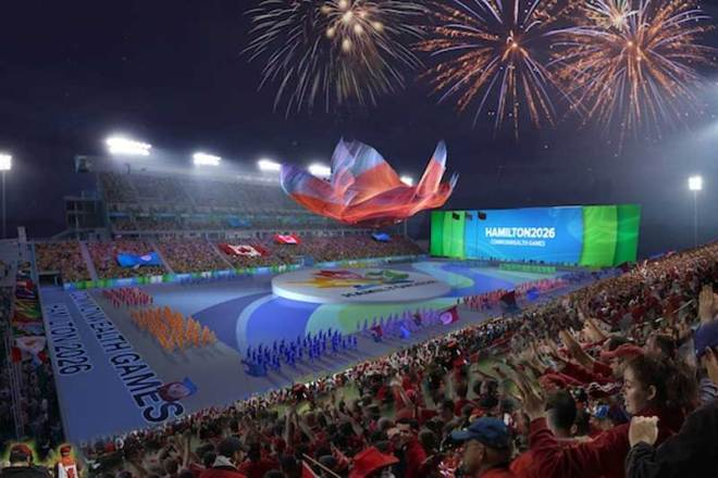 Artist rendering of Tim Hortons Field, proposed venue for the Hamilton 2026 Commonwealth Games Opening Ceremonies