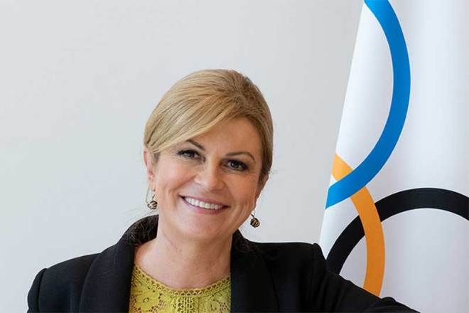 Kolinda Grabar-Kitarović, IOC Member from Republic of Croatia named Chair of the Future Host Commission for the Games of the Olympiad (IOC Photo)