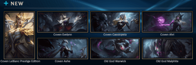 new skins patch 11.16