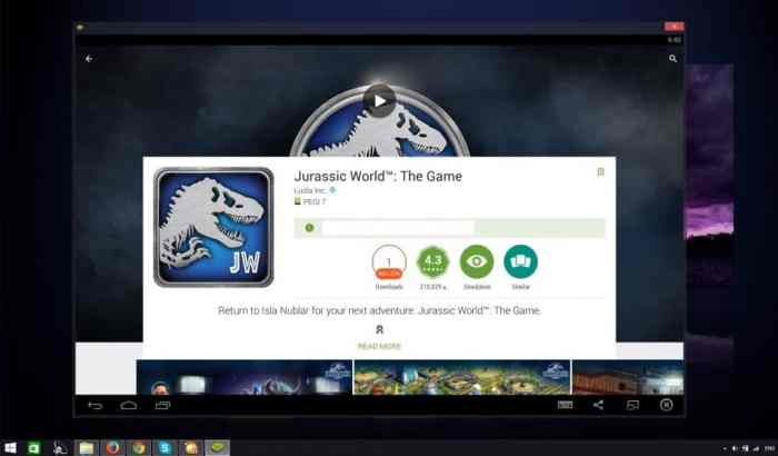 Jurassic World The Game pc windows