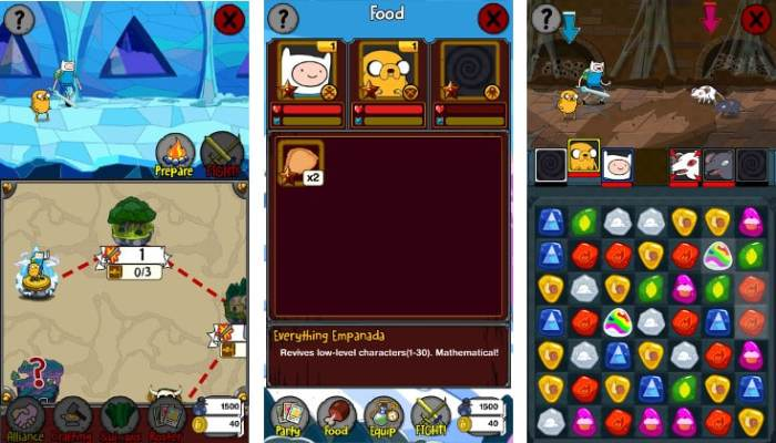 Adventure Time Puzzle Quest free win