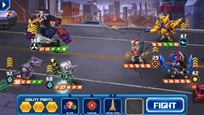 Transformers Battle Tactics fight