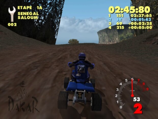 Paris-Dakar Rally pc game screen shot 1