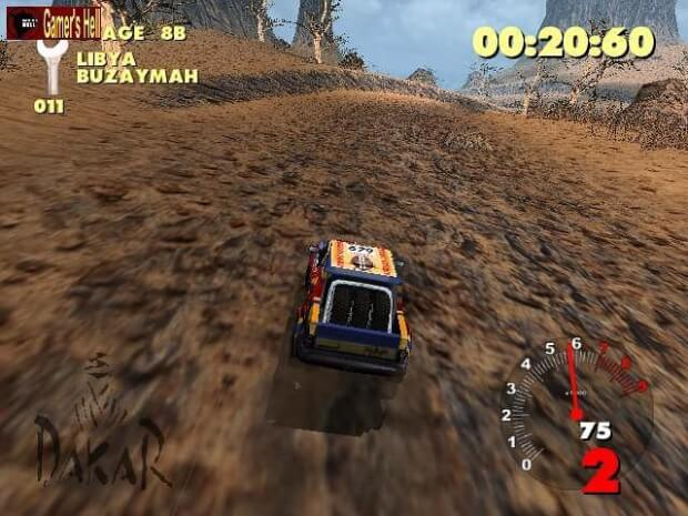 Paris-Dakar Rally pc game screen shot 3
