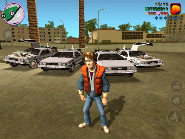 GTA Vice City Back to the Future Hill Valley Video Game