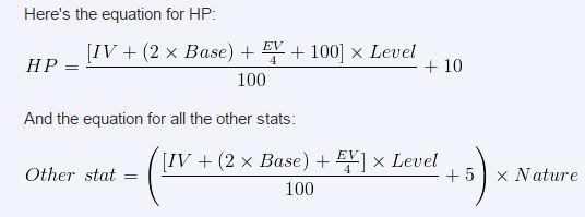 Pokemon HP formaula