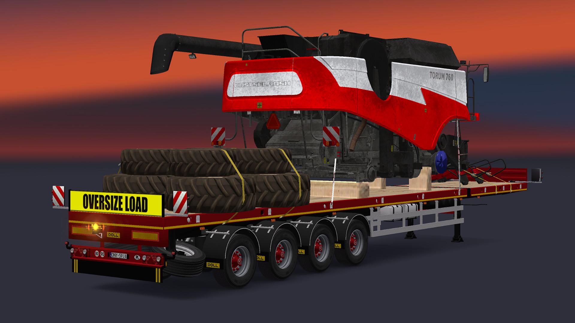 Tractor Trailer Truck Warehouse