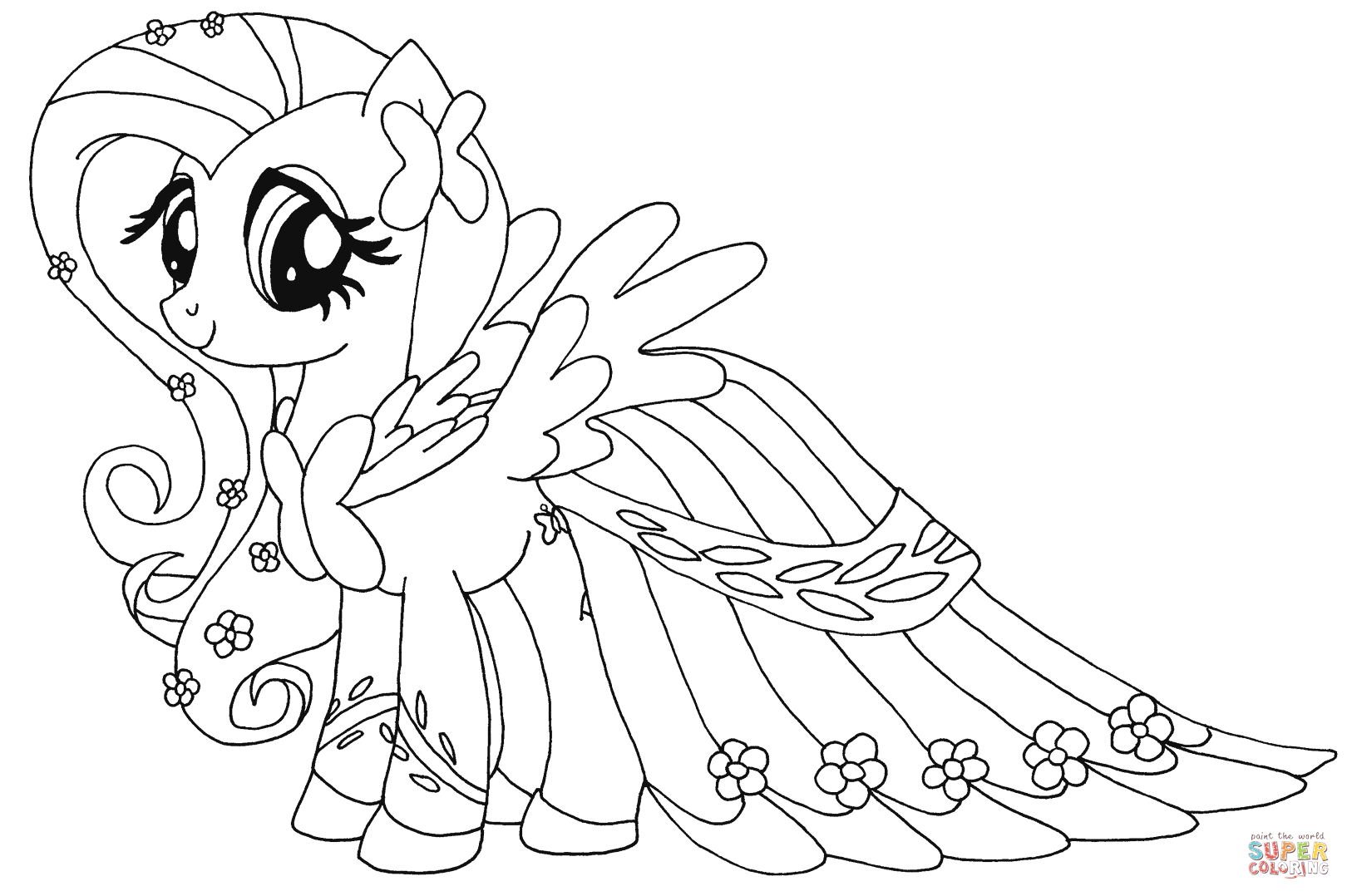 Fluttershy From My Little Pony Coloring Page My Little Pony