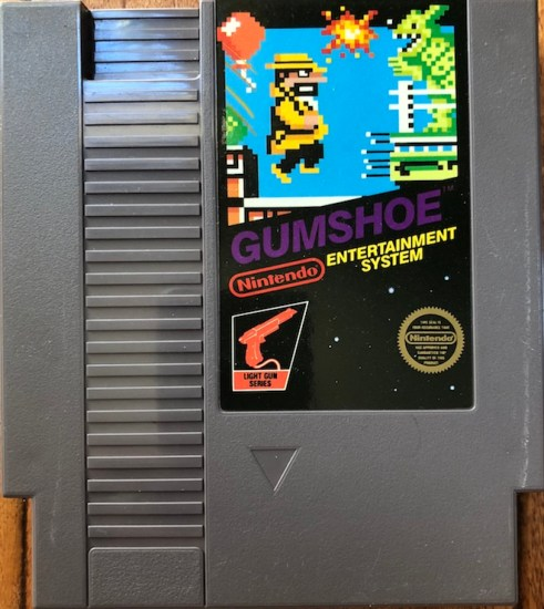 image of gumshoe nes cartridge for retro game treasure subscription box review