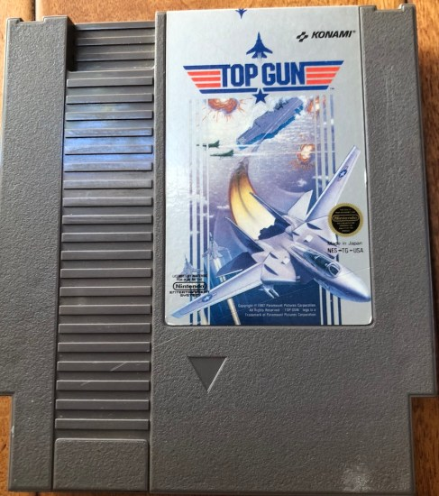 top gun NES game from RGT box subscription