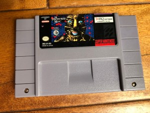 the lawnmower man cartridge for snes from retro wreck room april box