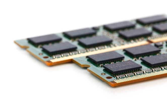 ram chips on a white background