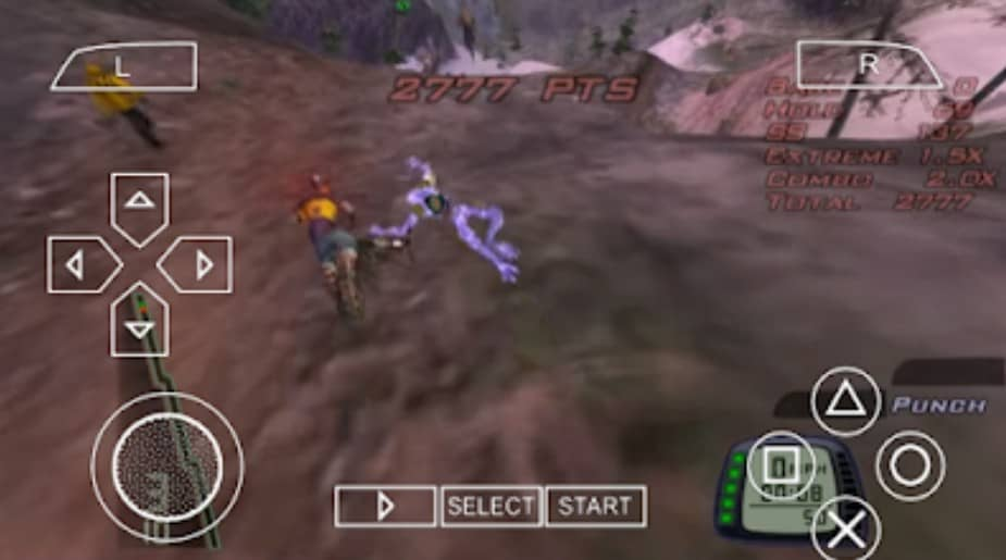 Visuals and Gameplay of Downhill