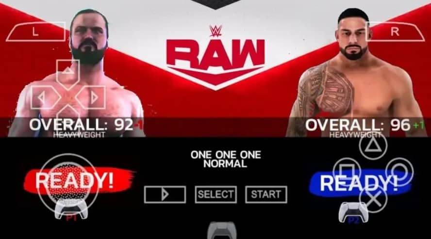 Character roster or WWE 2K22