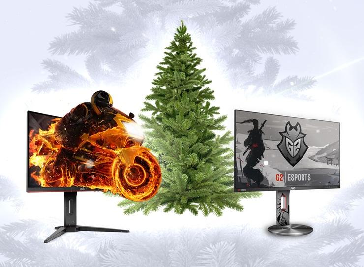 Κρατήστε χώρο κάτω από το Χριστουγεννιάτικο δέντρο για τις gaming οθόνες G1 Series της AOC