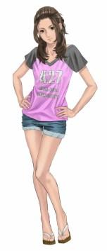 「七瀬千尋 (CV:川澄綾子) 」夏季にオープンする海の家で働く美少女。自身の夢を叶えるため、バイトに精を出す。空手の有段者で強引にナンパしてくる相手は得意技のハイキックで撃退