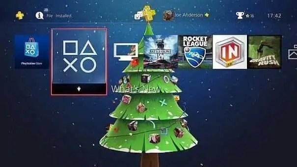 playstation-4-tema-natalizio