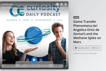 Curiosity Daily podcast featuring Game Transfer Phenomena