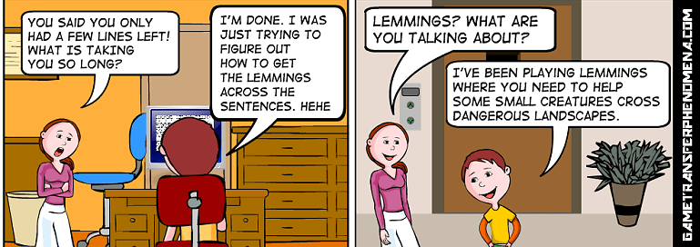 Lemmings in text